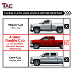 "TAC Gloss Black 3"" Side Steps For 2007-2018 Chevy Silverado/GMC Sierra 1500 / 2007-2019 Silverado/Sierra 2500/3500 Extended/Double Cab Truck 