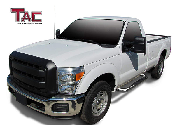 "TAC Stainless Steel 3"" Side Steps For 1999-2016 Ford F250/350/450/550 Super Duty Regular Cab Truck 