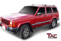 "TAC Gloss Black 3"" Side Steps For 1984-2000 Jeep Cherokee 4 Door SUV 