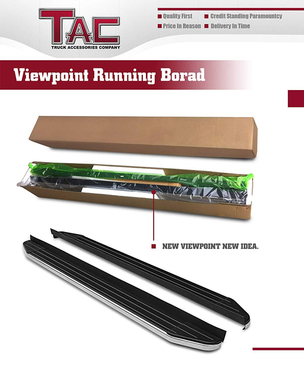TAC ViewPoint Running Boards Fit 2007-2014 Ford Edge (Excl. Sport and EcoBoost Models) SUV | Side Steps | Nerf Bars | Side Bars