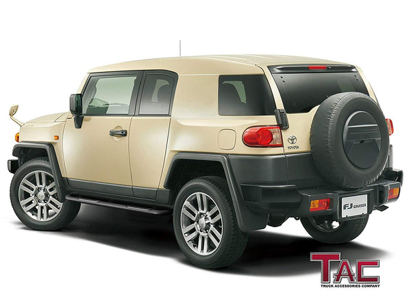 "TAC Gloss Black 3"" Side Steps For 2007-2014 Toyota FJ Cruiser SUV (Excludes models with the factory rock rails) 