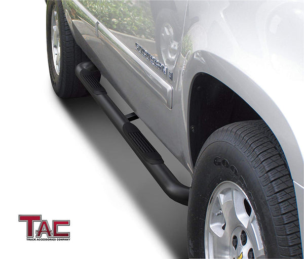 "TAC Gloss Black 3"" Side Steps For 2000-2020 Chevy Suburban / GMC Yukon XL 1/2 Ton (Excl. 02-06 Z71 Model) / 2002-2013 Chevy Avalanche 1500 Truck 