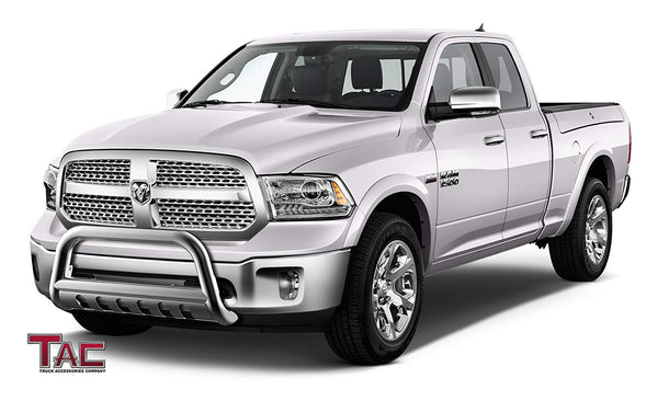 "TAC Stainless Steel 3"" Bull Bar For 2009-2018 Dodge RAM 1500 (Excl. Rebel & Warlock Trims / Incl. 19-20 RAM 1500 Classic) Truck Front Bumper Brush Grille Guard Nudge Bar"