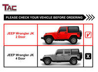 "TAC Gloss Black 3"" Side Steps For 2007-2018 Jeep Wrangler JK 2 Door (Exclude 2018 Wrangler JL Models) SUV 