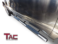 "TAC Stainless Steel 4"" Side Steps for Chevy Silverado/GMC Sierra 2007-2018 1500/2007-2019 2500/3500 Crew Cab (Incl. Diesel Models with DEF Tanks) Truck 