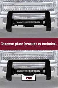 TAC Predator Modular Bull Bar with LED Light For 2007-2018 Chevy Silverado 1500 / GMC Sierra 1500 Truck Front Bumper Brush Grille Guard Nudge Bar