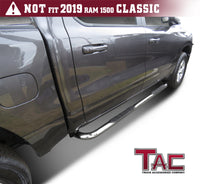 "TAC Stainless Steel 3"" Side Steps For 2019-2020 Dodge Ram 1500 Crew Cab (Excl. 19-20 RAM 1500 Classic) Truck 