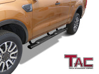 "TAC Gloss Black 5"" Oval Straight Side Steps For 2019-2021 Ford Ranger Super Cab 