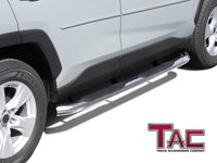 "TAC Stainless Steel 3"" Side Steps For 2019-2020 Toyota RAV4 SUV (Can Not Compatible With OEM Mudguard) 