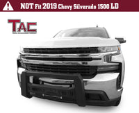 TAC Predator Modular Bull Bar Mesh Version For 2019-2021 Chevy Silverado 1500 (Excl. 2019 Silverado 1500 LD Model and Diesel Engine with Tow Hooks Models) Truck Front Bumper Brush Grille Guard Nudge Bar