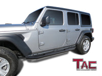 TAC Heavy Texture Black Side Armor Steps for 2018-2020 Jeep Wrangler JL 4 Door (Exclude 2018 Wrangler JK Models) | Running Boards | Nerf Bars | Side Bars