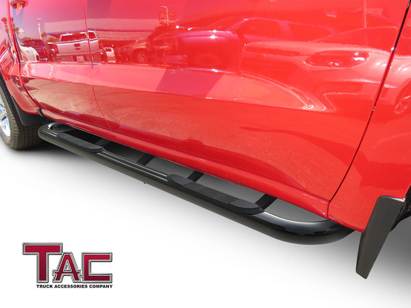 "TAC Gloss Black 3"" Side Steps For 2019-2020 Chevy Silverado/GMC Sierra 1500 