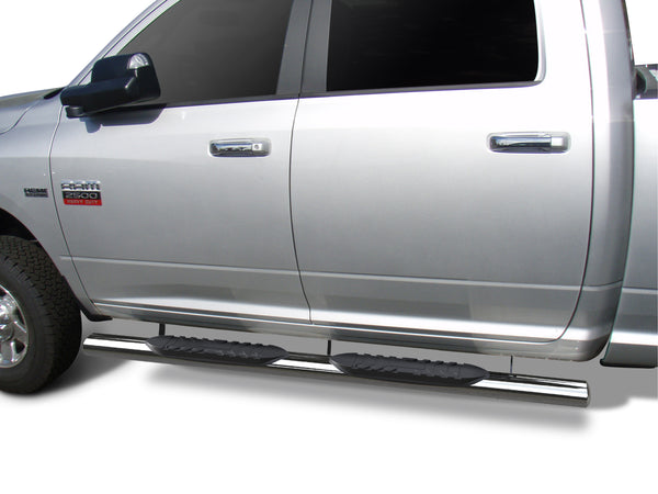 "TAC Stainless Steel 5"" Oval Straight Side Steps For 2019-2021 Dodge Ram 1500 Crew Cab (Excl. 19-20 RAM 1500 Classic) 