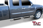 "TAC Stainless Steel 5"" Oval Straight Side Steps For 2009-2018 Dodge Ram 1500 Quad Cab (Incl. 19-20 Ram 1500 Classic) 