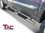 "TAC Stainless Steel 5"" Oval Straight Side Steps For Chevy Silverado/GMC Sierra 2007-2018 1500 & 2007-2019 2500/3500 Extended/Double Cab 