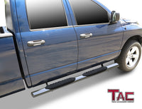 "TAC Stainless Steel 5"" Oval Straight Side Steps For 2002-2008 Dodge Ram 1500 Quad Cab / 2003-2009 Dodge Ram 2500/3500 Quad Cab 