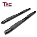 "TAC Gloss Black 5"" Oval Bend Side Steps For 2005-2020 Toyota Tacoma Double Cab 
