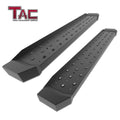 TAC Fine Texture Black Rattler Running Board for 2009-2018 Dodge RAM 1500 Regular Cab / 2010-2021 Dodge RAM 2500/3500 Regular Cab Truck | Side Steps | Nerf Bars | Side Bars