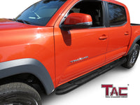 "TAC Heavy Texture Black 4"" Side Steps for 2005-2021 Toyota Tacoma Double Cab Truck 