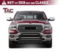 "TAC Heavy Texture Black 3"" Bull Bar For 2019-2021 Dodge Ram 1500 (Excl. Rebel Trim, 19-20 RAM 1500 Classic and 2020 Ram 1500 Diesel Models) Front Bumper Brush Grille Guard Nudge Bar"