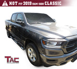 "TAC Stainless Steel 4"" Side Steps for 2019-2021 Dodge Ram 1500 Crew Cab (Excl. 19-20 RAM 1500 Classic) Truck 