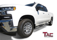 "TAC Stainless Steel 5"" Oval Straight Side Steps For 2001-2014 Chevy Silverado/GMC Sierra 1500/2500/3500 Crew Cab 