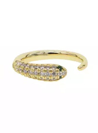 Pave Open Snake Ring