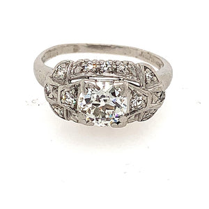 Platinum Antique Art Deco Engagement Ring