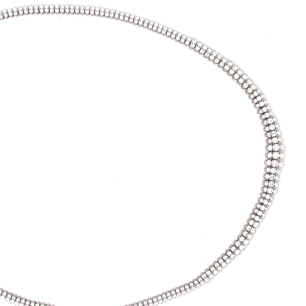 Sterling Silver AAA Cubic Zirconia Collar Necklace