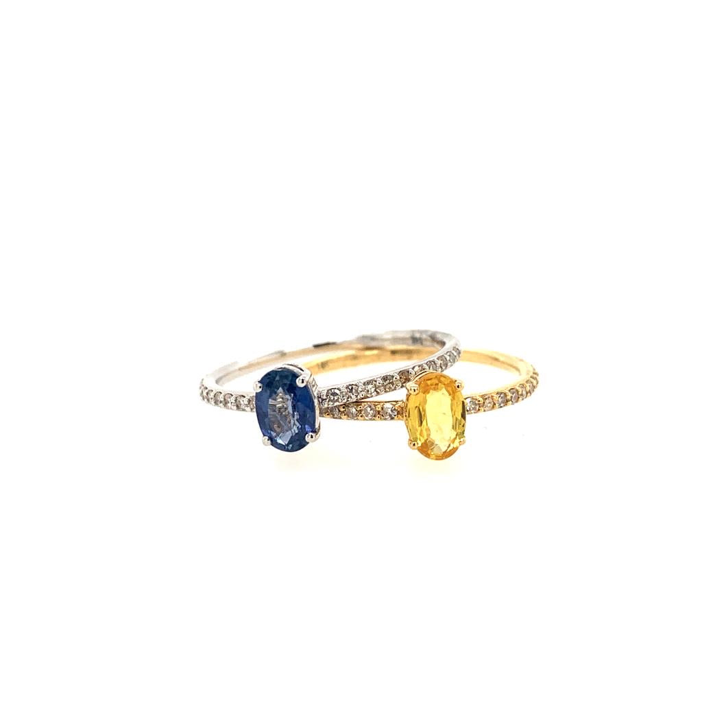 14K Yellow Sapphire Oval Ring