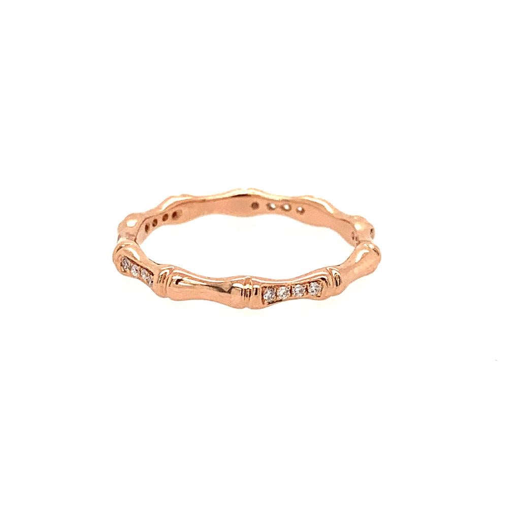 14K Bamboo Eternity Band Diamond Band