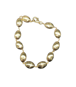 14K Gold Pebble Link Bracelet