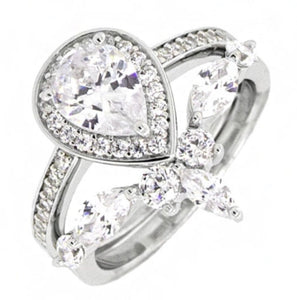 Halo Pear Shaped Engagement Ring