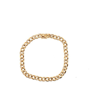 14K Diamond Chain Bracelet