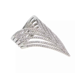 Chevron Multi-band Ring
