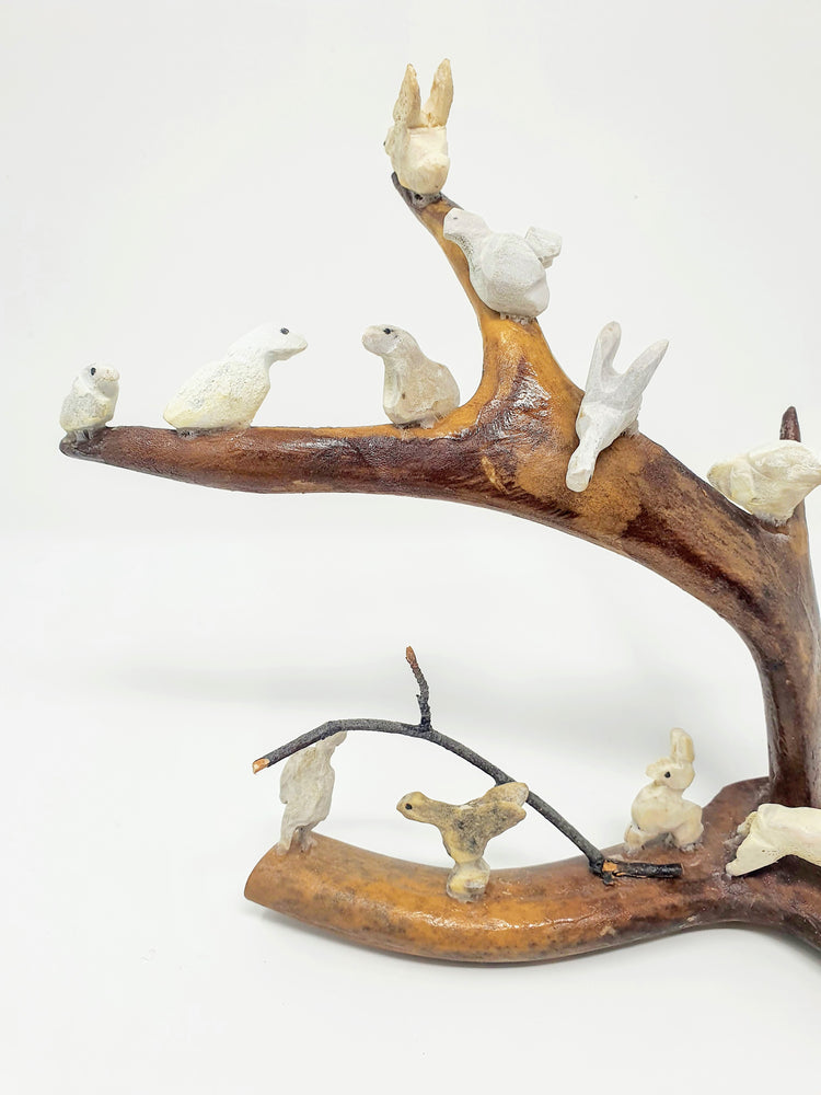 "Caribou Antler Carving ""13 Small Animals"" by Sonny Marlowe"