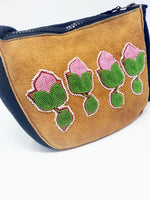 Beaded Moose Hide and Stroud Purse by Florence Catholique