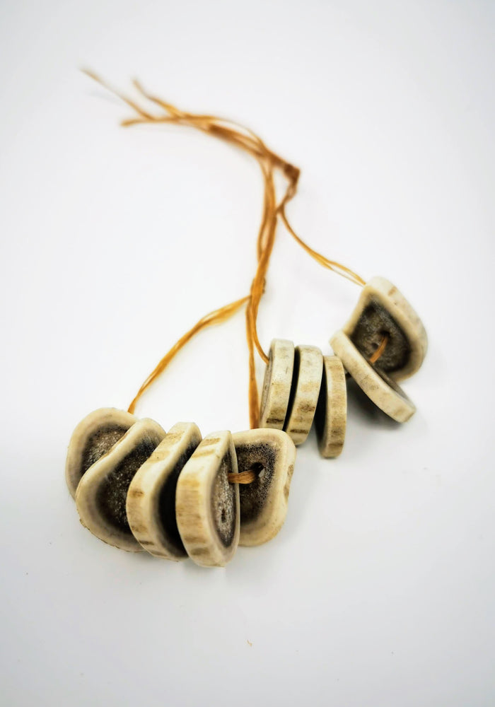 Caribou Antler Buttons by Ronald Enzoe