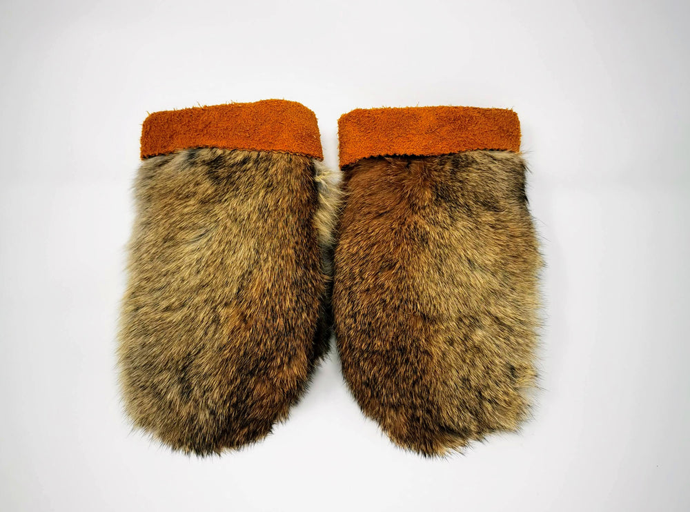 Children's Rabbit Fur Mitts by Irene Catholique