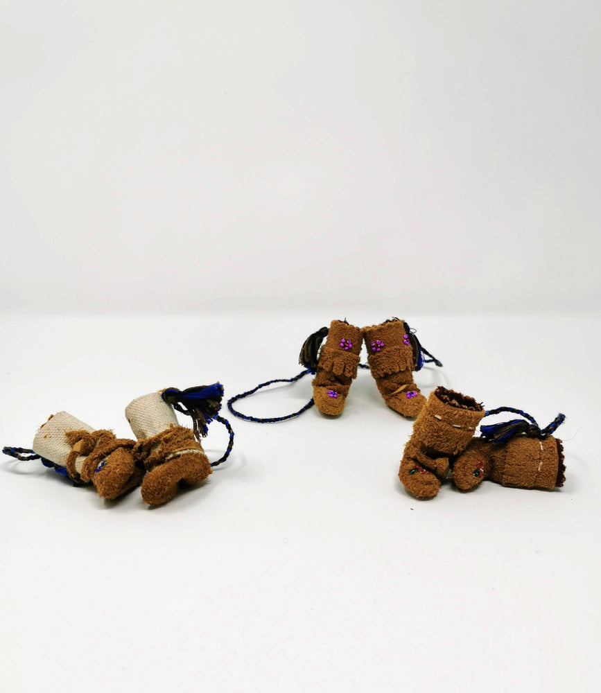 Moccasin Zipper Pulls by Irene Catholique