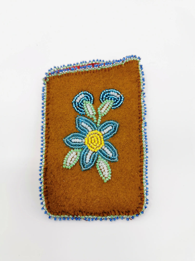 Beaded Card Holder by Madeline Drybones