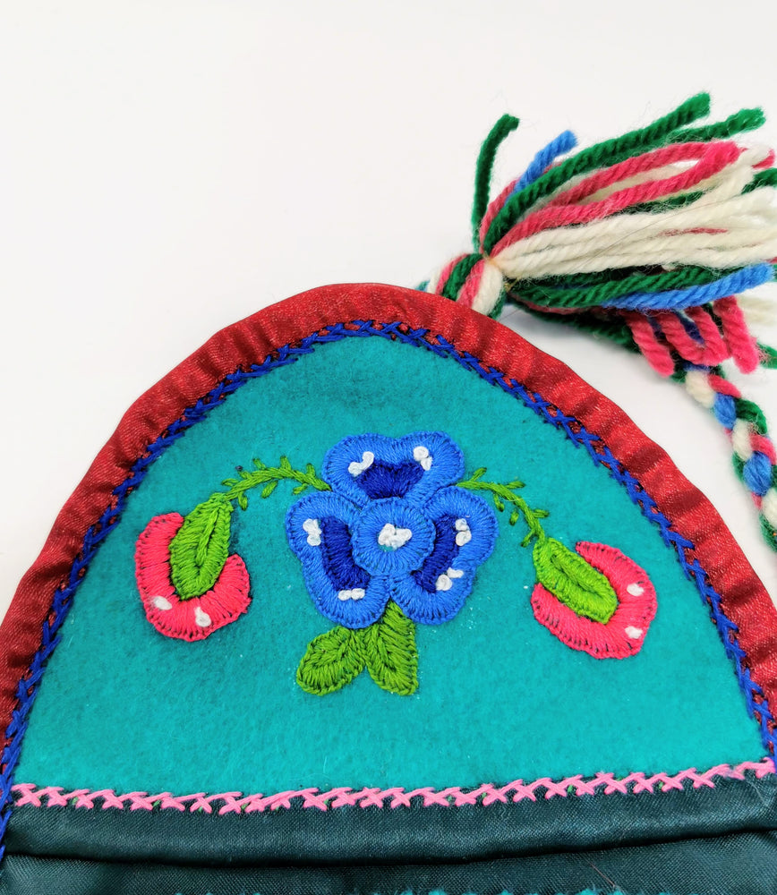 Embroidered Sewing Kit Bag by Madeline Drybones