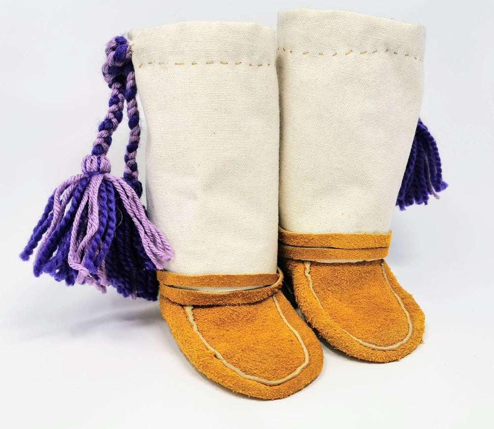 Children's Canvas Mukluks by Irene Catholique
