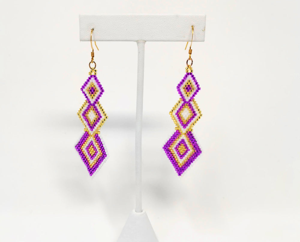 Beaded Delica Earrings by Hilary Catholique