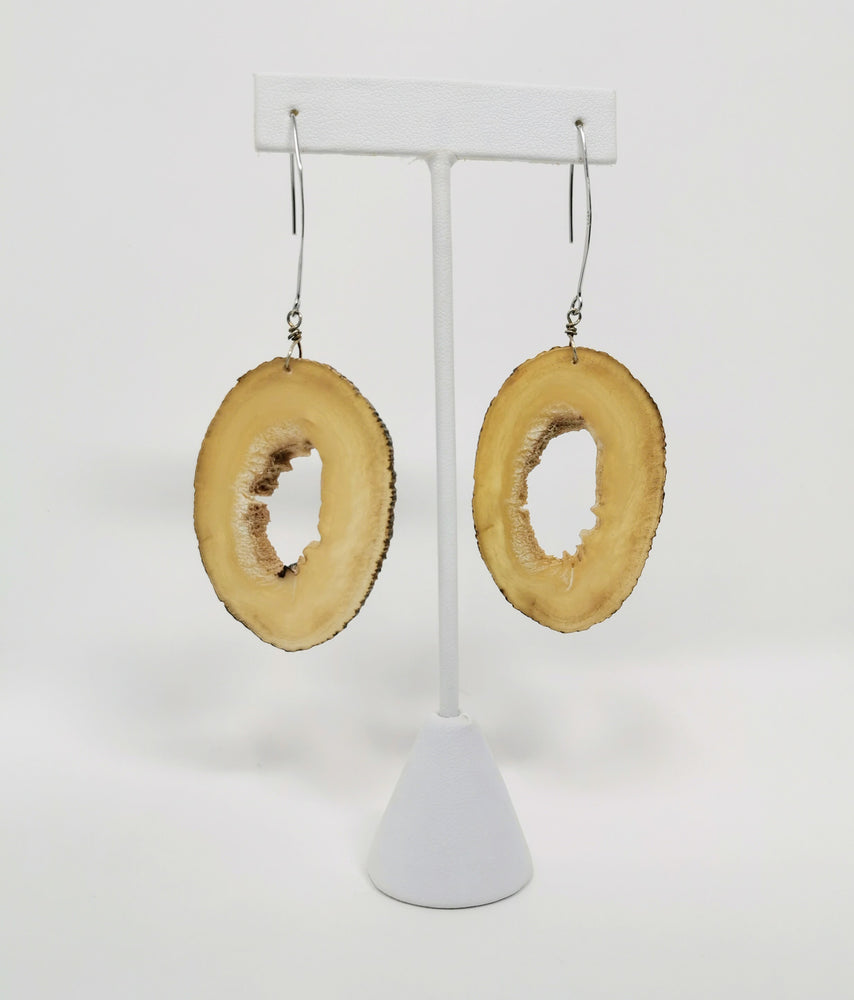 Muskox Horn Earrings by Gloria Enzoe