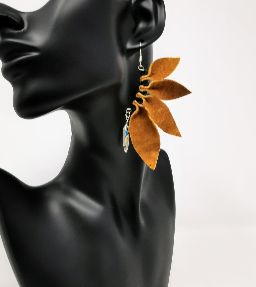 Hide Leaf Earrings by Amanda Marlowe