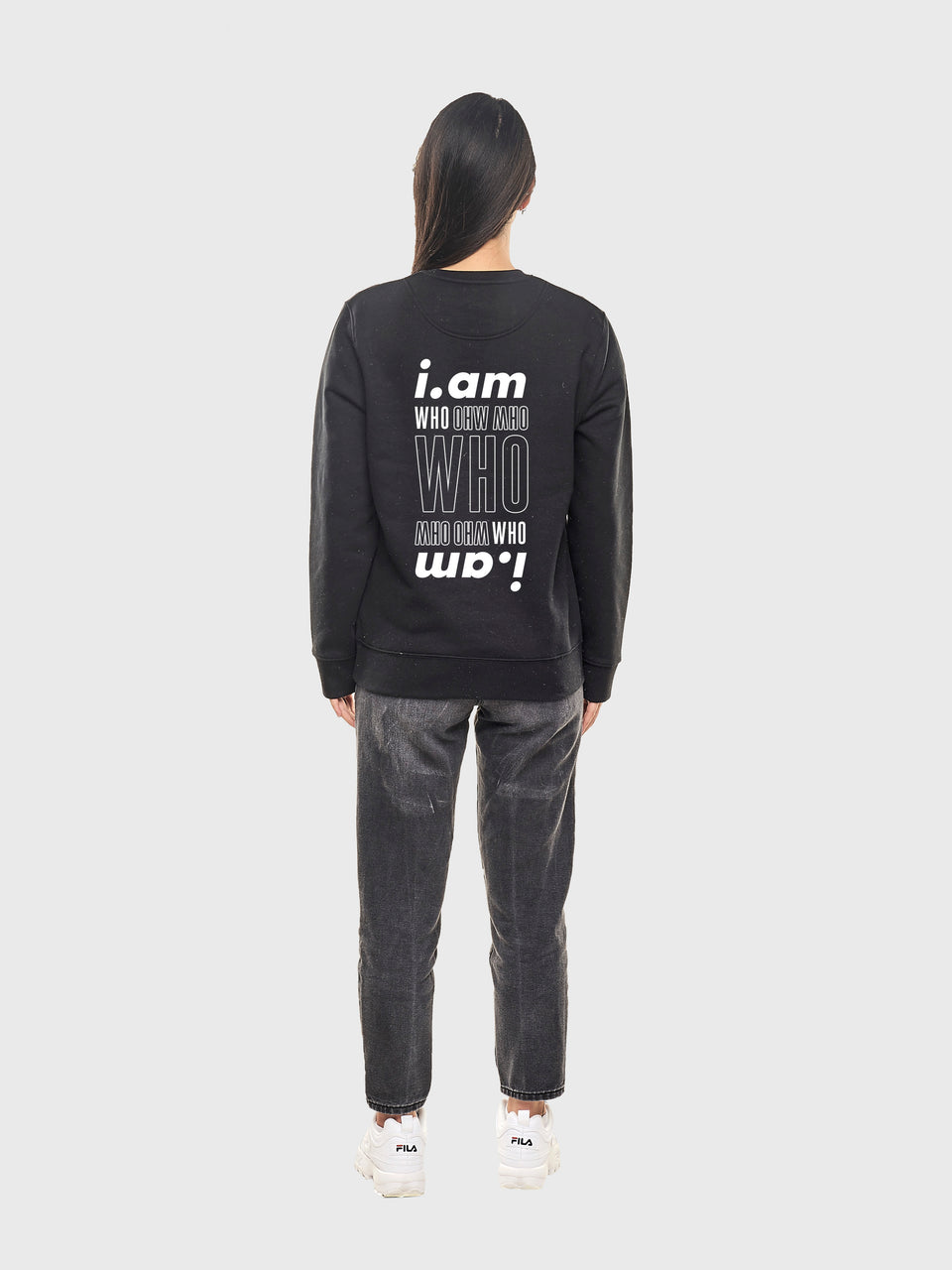 I am who I am - Black - Unisex sweatshirt