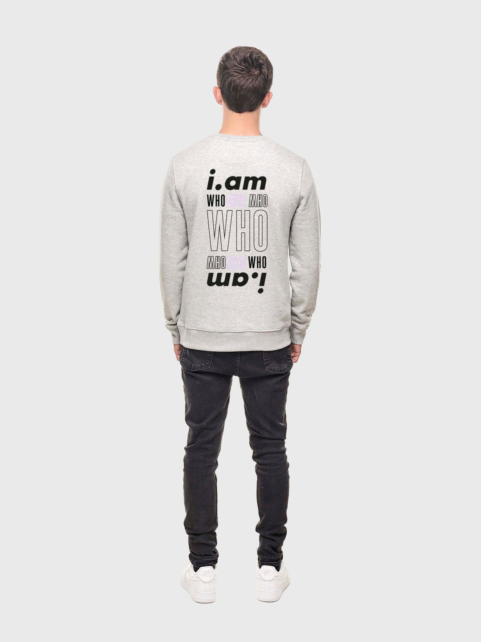 I am who I am - Grey - Unisex sweatshirt