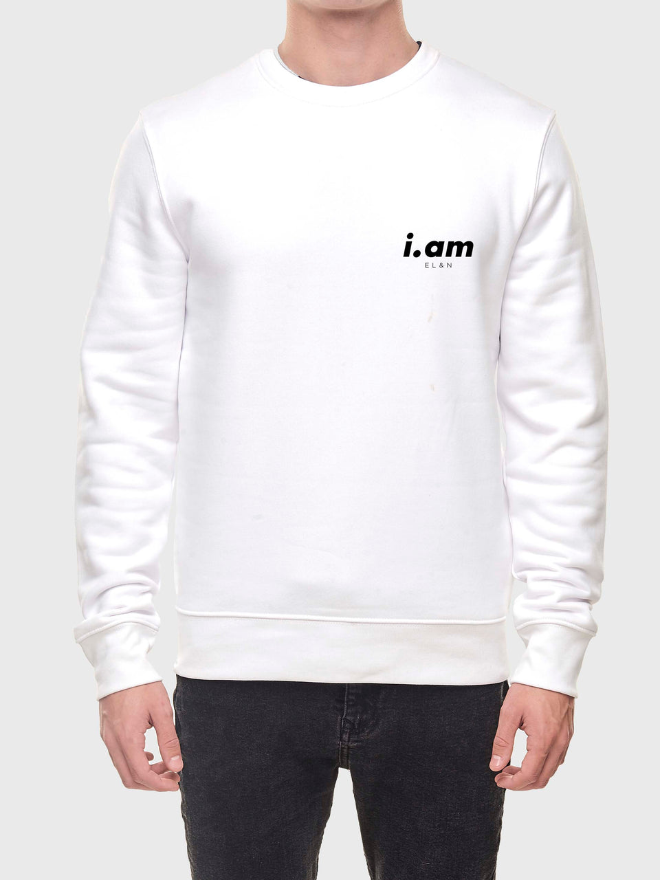 I am who I am - White - Unisex Sweatshirt