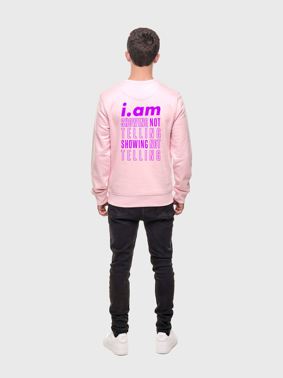 Showing not telling - Pink - Unisex sweatshirt